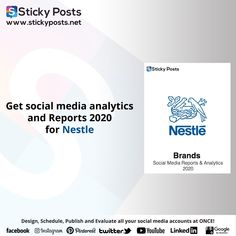 "Nestle social media analysis for 2020 Quarter one totally for FREE!    NOW you can manage all your social media accounts at once!  Sticky Posts System the most economical social media management tool all over the world now available in the Middle East & Africa!  Our Unique Services:-  - Posts Generator "" Design all your social media posts automatic""  - Automatic Scheduling "" Save time & Schedule all your social media activities in less than 10 min""  - Automatic Publishing "" You only need to… Social Media Analysis, Social Media Report, Social Media Branding, Facebook O, Social Media Management Tools, East Africa, Middle East, Schedule, Accounting"