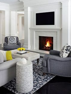 TVs Over Fireplaces  ~ Good tips on safe temperatures for tvs and tv placement.