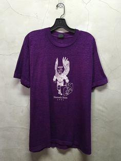 vintage t shirt oversized t-shirt purple paper by imtryingtofocus