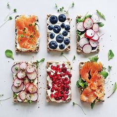 "Wake up and #toast like @wiktoriabanda! These are topped with Salmon, Blueberries, Radish and Pomegranate Seeds. Get over 75 more of our favorite toasts on the Toast Feed on our Website | feedfeed.info/toast (Feed edited by @foodgays.) Remember to tag your cooking, baking, and drink making ""#feedfeed @thefeedfeed"" for a chance to be featured here and on our site."