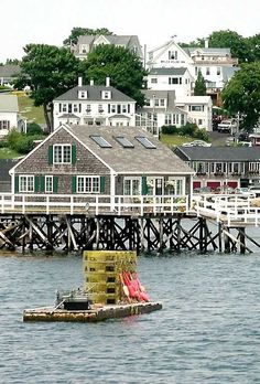 Boothbay Harbor, Maine.  Fun shopping!
