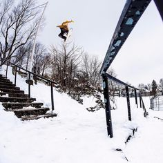 Taking the Method to the streets of Syracuse. @darrell_mathes focused on clearing the railing while filming for @Videograss. Photo: @andywrightphoto