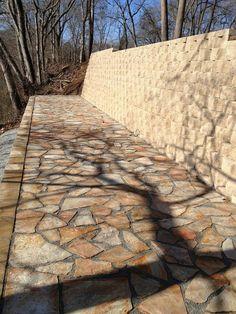 Retaining wall and pavers. Abcblock.com