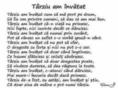 Târziu am învațat. Me Quotes, Qoutes, Motivational Quotes, Inspirational Quotes, True Words, Motto, Affirmations, Pray, Psychology