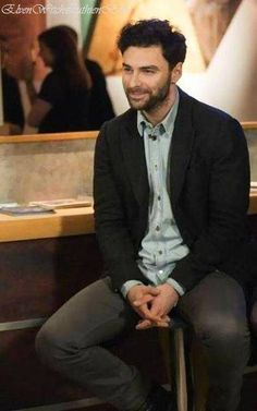 Here's another one of those photos I came across on my smartphone images, from the end of February, a fab behind the scenes shot taken of himself during a TV interview that Aidan did with Eleanor, Heida and Jack Farthing on the same evening as the Poldark preview and Q & A in Truro. ~ from Aidan Turner FB page