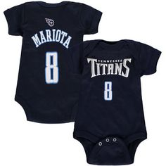 Newborn Tennessee Titans Marcus Mariota Navy Mainliner Name & Number…