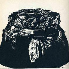 The Mothers - Kathe Kollwitz - - Expressionism, 1922 Kathe Kollwitz, Art Brut, Famous Art, Monochrom, Linocut Prints, Drawing People, Oeuvre D'art, Printmaking, Art History