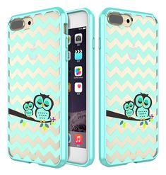iPhone 8 Plus /iPhone 7 Plus Case, Style4U Cute Owl Printed Design Scratch Resistant Shock Absorbent Slim Clear Back TPU Bumper Case Cover for Apple iPhone 8 Plus 2017 & iPhone 7 Plus 2016 [Owl]