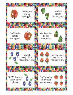 "VERY HUNGRY Caterpillar 2"" DIY Personalized Printable Party Decoration- For favor tags, cupcake toppers, napkin rings, etc.. $6.00, via Etsy."