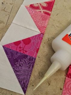 Quick Tips: Glue Basting perfect points, curves, and applique from @Cristycreates