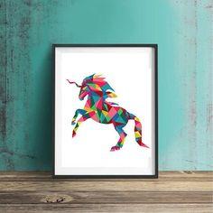 Unicorn wall art Unicorn poster Unicorn by MGDigitalHippie on Etsy
