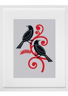 Check out the deal on Two Tui by Greg Straight at New Zealand Fine Prints Tui Bird, Maori Symbols, Maori Patterns, Zealand Tattoo, Maori Designs, New Zealand Art, Nz Art, Art Folder, Maori Art