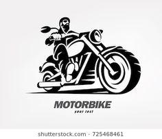 Biker motorcycle grunge silhouette retro emblem vector image on VectorStock Motorcycle Art, Bike Art, Motorcycle Stickers, Motorcycle Tattoos, Badge Design, Logo Design, Bullet Bike Royal Enfield, Grunge, Badges
