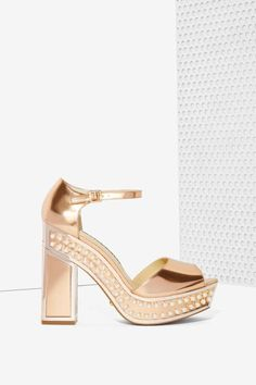 Nasty Gal x Kat Maconie Cherry Patent Leather Platform - All | Party Shop | Open Toe | Heels | Sequins & Glitter | Top Gifts | Party Heels