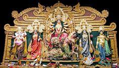 Maa Durga (Indian Godess) by Debopam Banerjee on Jay Maa Kali, Durga Maa Paintings, Durga Puja Kolkata, Manoj Kumar, Saraswati Goddess, Ganesh Images, Hindu Dharma, Peacock Painting, Radha Krishna Images