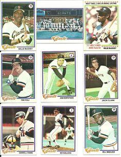 1978 Topps Vintage Ex-Mt GIANTS team lot of 30 McCOVEY Montefusco Clark Evans #sfgiants #SanFranciscoGiants