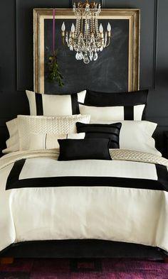 farbgestaltung schlafzimmer wanddekoration wandfarbe schwarz gold