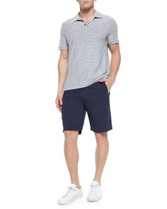 Woven Cotton Twill Shorts