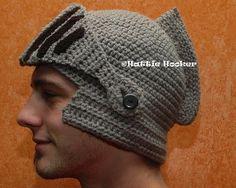 Crocheted Knight Helmet – $40