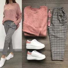 Combine and combine combi outfits - Just Trendy Girls: - Clothes - . - Combine and combine combi outfits – Just Trendy Girls: – clothes – # … - Casual Hijab Outfit, Casual Outfits, Hijab Fashion Casual, Simple Outfits, Grey Pants Outfit, Ootd Hijab, Modern Outfits, Fall Outfits, Fashion Outfits