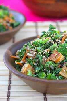 Wasabi Tofu Salad- sub salmon