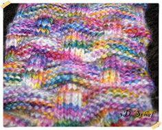 Ich habe für diese Wolle ganz viele Muster ausprobiert, aber irgendwie war ich nie so richtig zufrieden. Also habe ich ein ganz einfaches We...