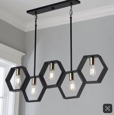 Contemporary Lighting Tips on How to Match Your Contemporary Home Design With Modern Lighting Modern Hexagon Linear Chandelier. Linear Chandelier, Black Chandelier, Chandelier Shades, Chandelier Lighting, Chandelier Ideas, Beach Lighting, Club Lighting, Outdoor Chandelier, Accent Lighting