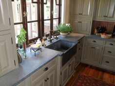 soap stone counters & french windows