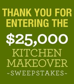 <3 would LOVE to win a $25,000 Kitchen Makeover Sweepstakes | Eating Well