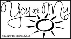 You are my Sunshine - Vinyl Wall Art, Graphics, Lettering, Decals, Stickers. $16.50, via Etsy.