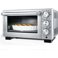 Cook food faster and more evenly with the Oster Designed for Life Convection Toaster Oven. The stylish stainless steel design effortlessly matches any kitchen decor, making this toaster oven a great idea as a housewarming or wedding gift. Stainless Steel Toaster, Brushed Stainless Steel, Specialty Appliances, Kitchen Appliances, Kitchens, Cooking Appliances, 6 Slice Toaster, Toaster Ovens, Cuisine