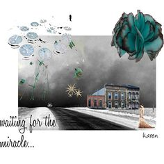 Waiting for the Miracle Digital Art Collage Card by HemeonArtworks, $7.00
