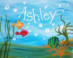 Kids will love this fun, colorful ocean scene almost as much as they'll love personalizing it with their names!