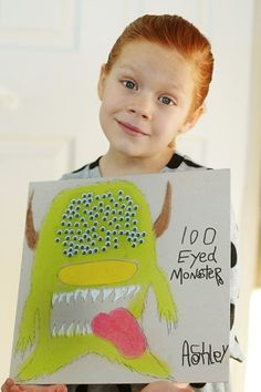 100 eyed monster for 100th day of school!