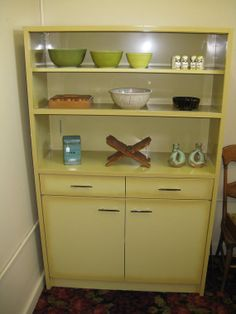 Vintage Metal Kitchen Hutch (Someday Mine Will Be Cleaned Up And Painted  Red) :) | KITCHEN | Pinterest | Vintage Metal, Kitchens And Vintage  Furniture