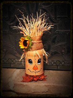 - New Deko Sites Thanksgiving Crafts, Fall Crafts, Holiday Crafts, Scarecrow Crafts, Halloween Crafts, Scarecrows, Wine Bottle Crafts, Mason Jar Crafts, Fall Mason Jars