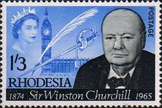 Rhodesia 1966 Churchill Fine Mint SG 357 Scott 206 Other Rhodesian Stamps For Sale HERE