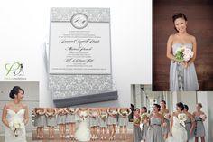 gray bridesmaid dresses <3