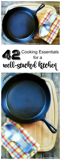 Do you know someone just getting their first place? Starting out, starting fresh, starting over? A cooking enthusiast, bride-to-be, newlywed, recent graduate or someone just getting their first apartment or home? 42 Cooking Essentials for a Well-stocked Kitchen continues the series of kitchen cookware and supplies plus includes a FREE printable checklist to get you started. | www.tootsweet4two.com