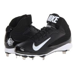 Nike Metal Baseball/ Softball Cleats Size 8 in Men but fits Women Size 8 or 8.5, probably even 9 too. Wore for 8 games while spring training in College. Nothing wrong with them just not my style. Nike Shoes Athletic Shoes