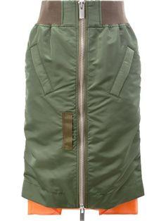 SACAI Ma-1 Skirt. #sacai #cloth #skirt