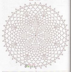 Doily Diagram - No linked pattern, just the image - but great if you can read them.This Pin was discovered by สุน Crochet Doily Diagram, Crochet Motif Patterns, Crochet Chart, Thread Crochet, Crochet Doilies, Crochet Stitches, Crochet Circles, Crochet Round, Crochet Squares