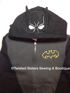 Batman hoodie in 3D.  Custom order, allow 14 business days to ship.  $35 plus shipping