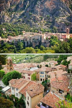 """Moustiers Sainte-Marie, France or simply Moustiers, is a commune in the Alpes-de-Haute-Provence department in southeastern France, a part of the Provence-Alpes-Côte d'Azur region and considered one of the """"most beautiful villages of France"""". Places Around The World, Oh The Places You'll Go, Places To Travel, Places To Visit, Travel Destinations, Around The Worlds, Weather In France, Moustiers Sainte Marie, Provence"""