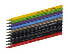 These graphite pencils feature quotations to fit any mood or situation and are made from laquered top quality graphite. Choose between: