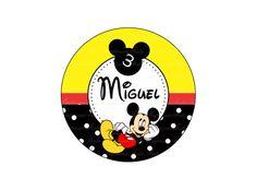 Adesivo Latinha 5cm Mickey