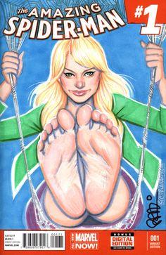 Gwen Stacy Spider Swing by scottblairart on DeviantArt