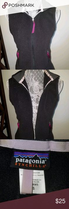 Patagonia Synchilla Fleece Vest Black Outerwear Patagonia Synchilla Womens Fleece Vest Black Outerwear Size S Small Patagonia Jackets & Coats Vests