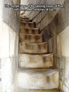 Stairs in the leaning tower of Pisa