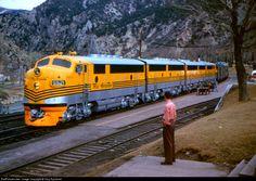 DRGW 5521 Denver & Rio Grande Western Railroad EMD F3(A) at Glenwood Springs, Colorado by Collection of Eugene Diller